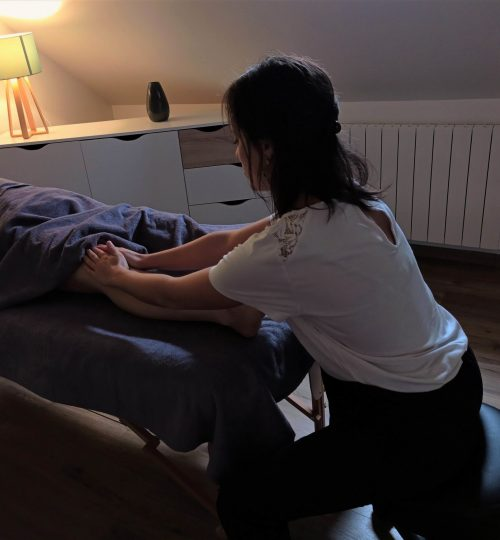 Massage jambe